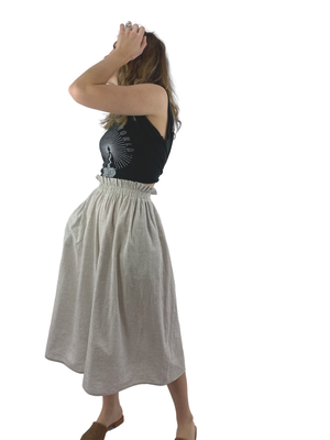 Bangladesh Light Grey Midi (Split Skirt)