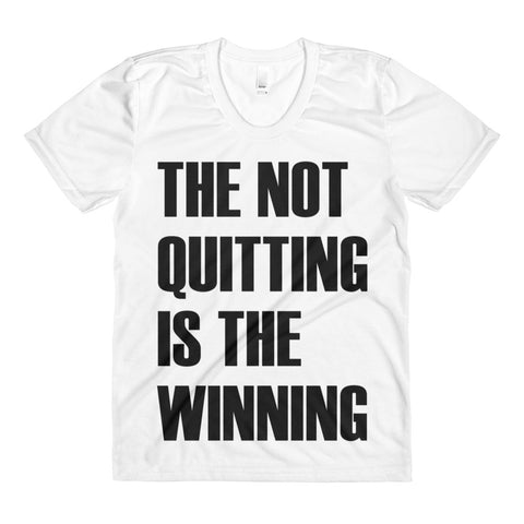 the not quitting is the winning Mrs. Emily tee