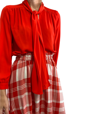 Red Madras Italian Midi - In Stock