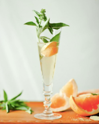 Ginger Basil Grapefruit Mimosa the pod collection
