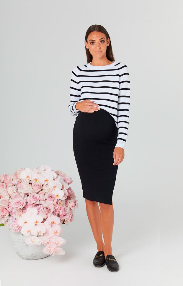 Bateau Crew Knit London Skirt Front the pod collection