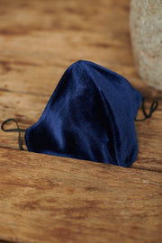 Navy Velvet Face Mask the pod collection 1