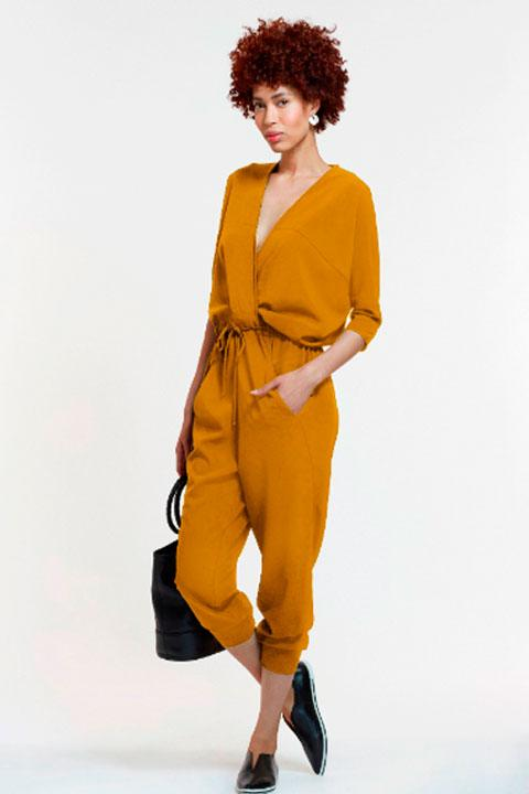 Yoko jumpsuit mustard the pod collection 21