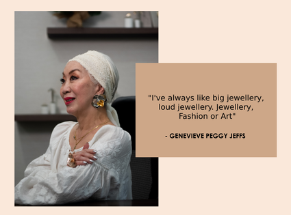 Jewellery, Fashion of Art Quote by Peggy Jeff