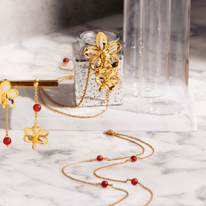 Scarlet Symphony Orchid Jewellery Collection