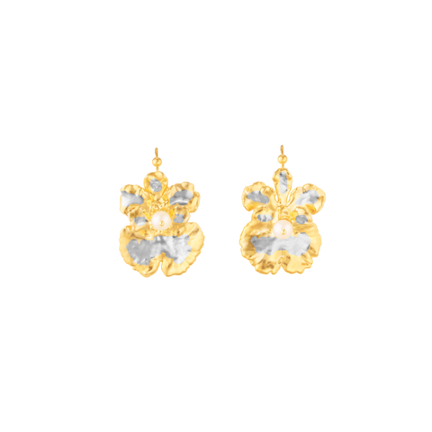 Oncidium Coco Drop Earrings