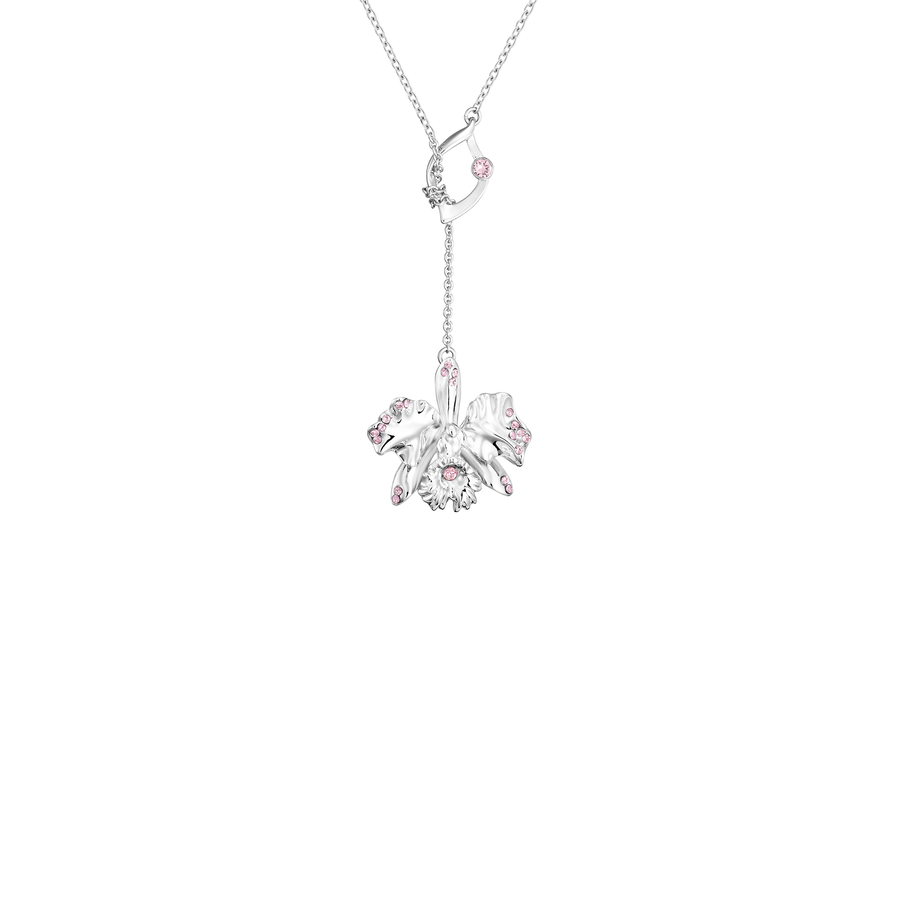 Dazzle With Orchids Necklace - Cattleya Inspired Orchid with Light Rose (Oct)