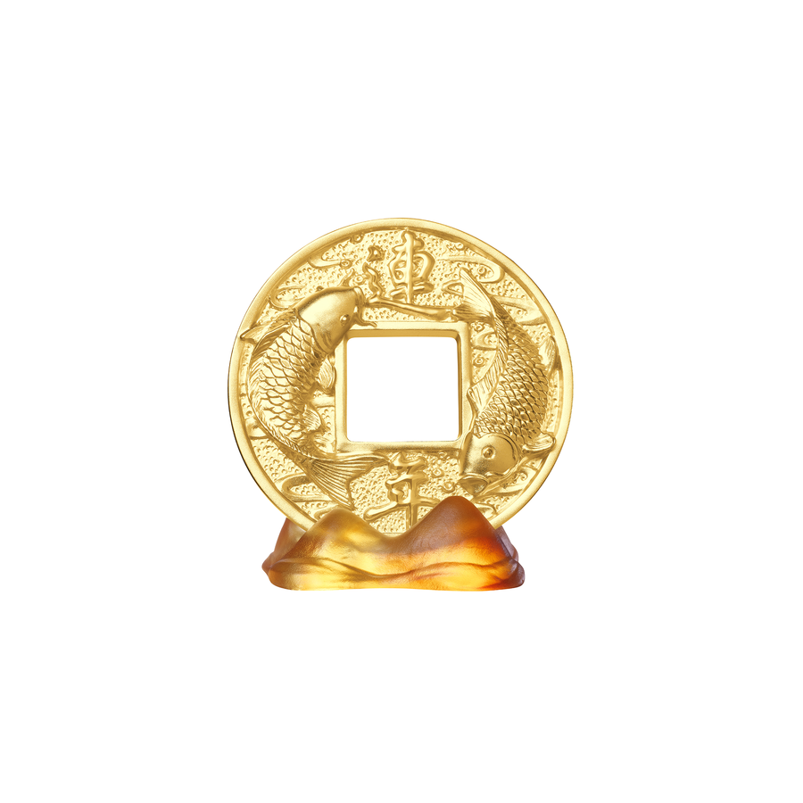 Auspicious Coin on Orange Liu Li Mountain