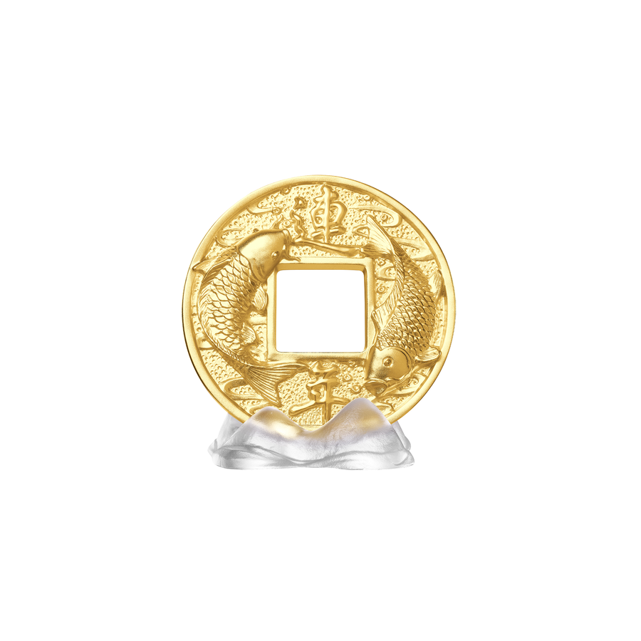Auspicious Coin on White Liu li Mountain