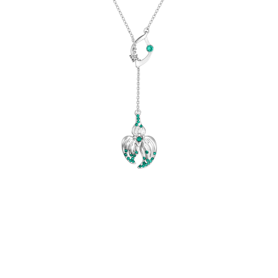 Dazzle With Orchids Necklace - Masdevallia Inspired Orchid with Emerald (May)