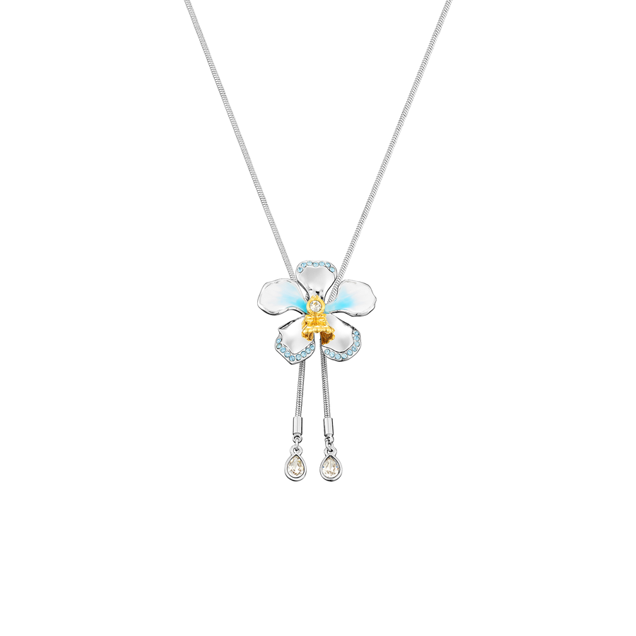 Crystal Blossom Aquamarine Kiss Slider