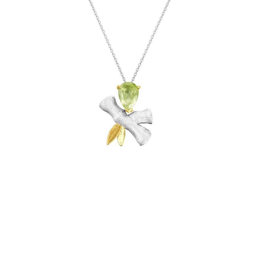Bamboo Necklace with Peridot (BI V1)