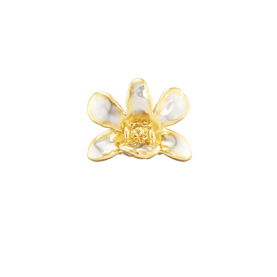 Dendrobium Thong Chai Orchid Brooch/Pendant (RHG)