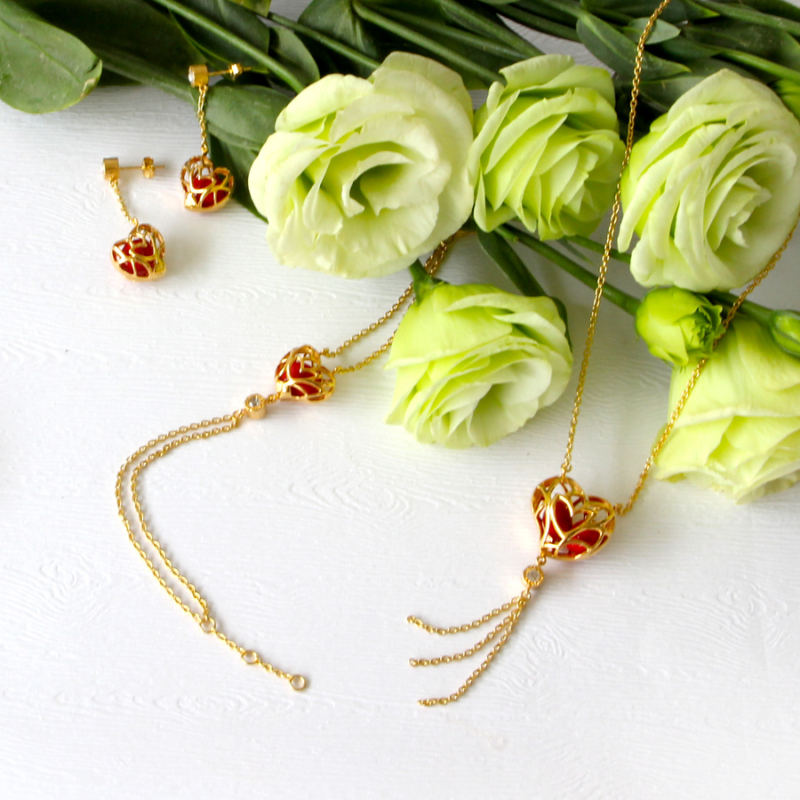 Lotus Heart Saga Seed Earrings