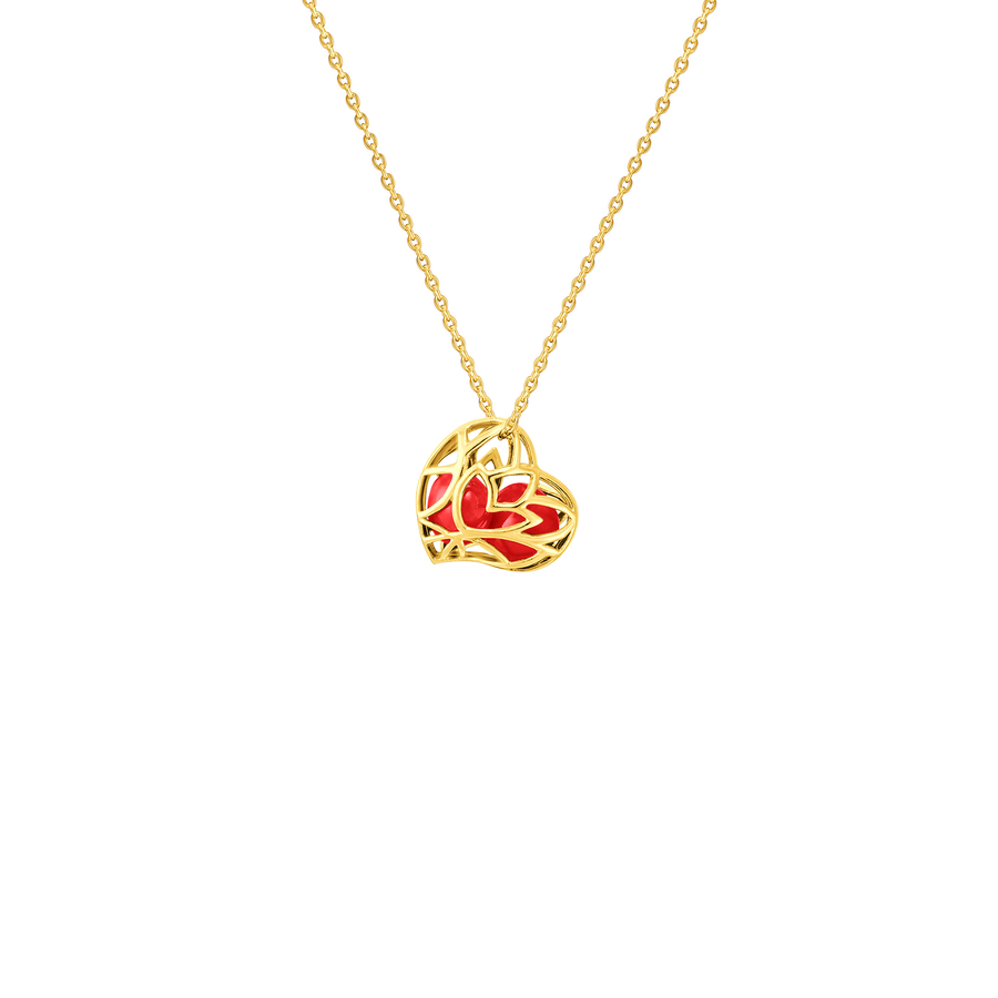 Lotus Heart Saga Seed Necklace (G)