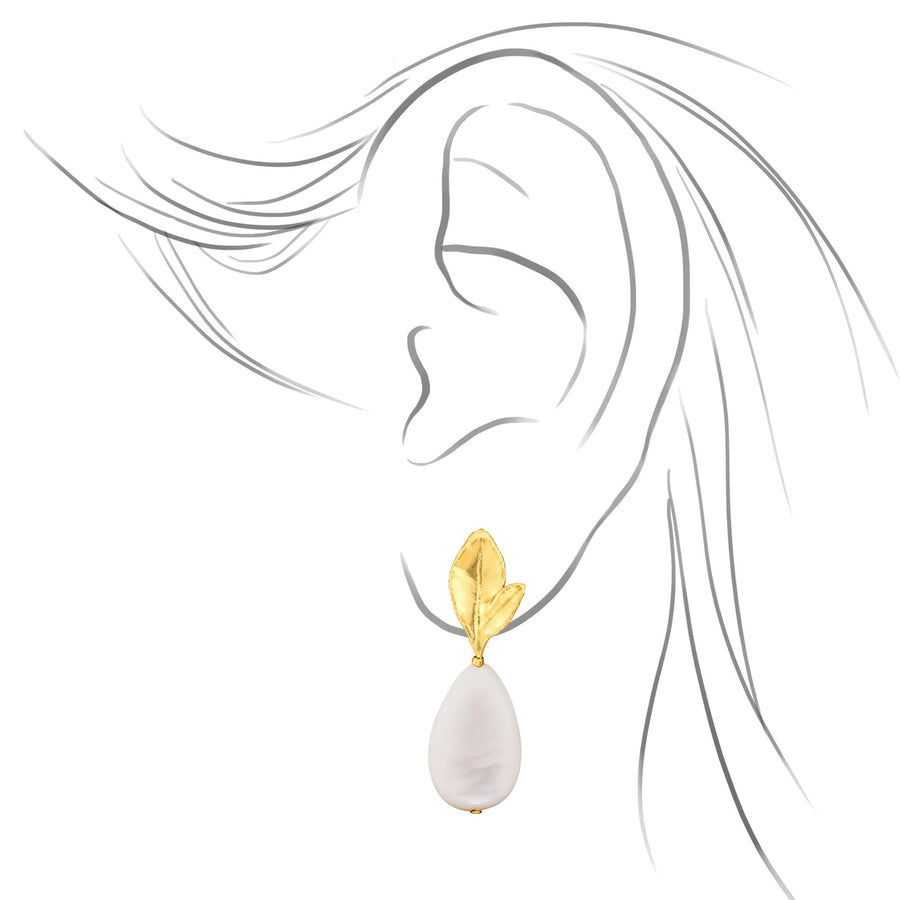 Morning Bliss Earrings with Shell Beads (G)