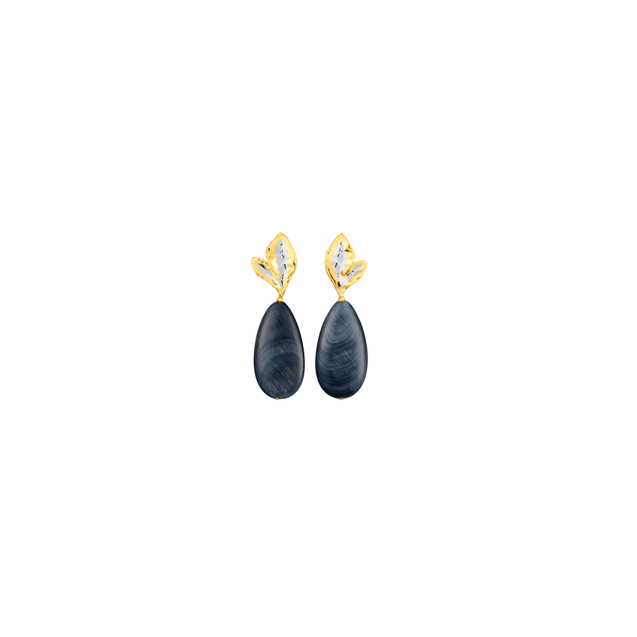 Morning Bliss Earrings with Shell Beads (RHG)