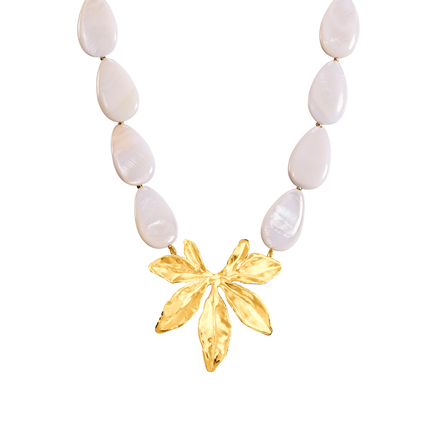 Morning Bliss Necklace with Natural Shell Beads (G)