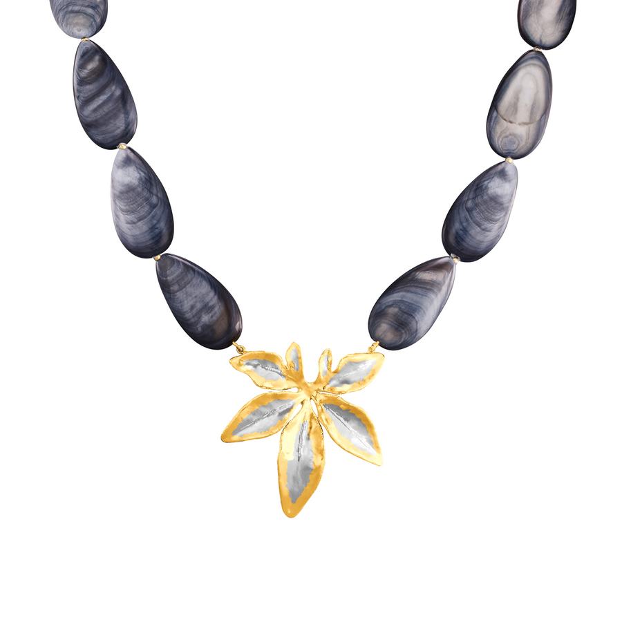 Morning Bliss Necklace with Shell Beads (RHG)