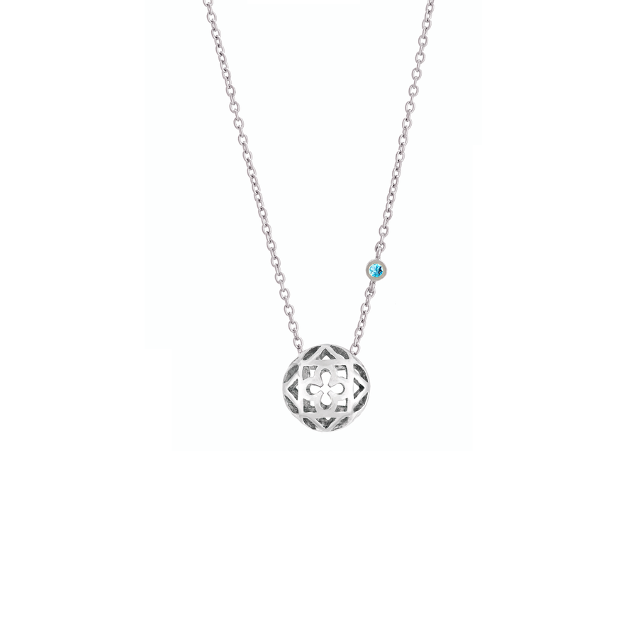 Peranakan Spheres Small Necklace with Blue Topaz (RH)
