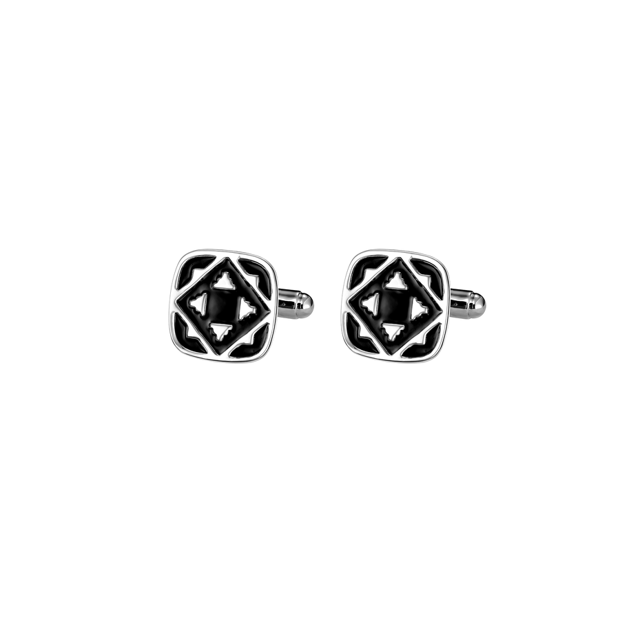 Peranakan 1 RH with Black Enamel Cufflinks
