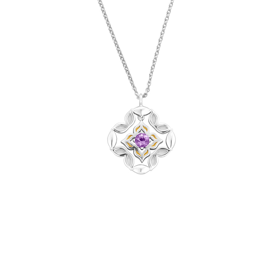 Peranakan Moments Darling Necklace with Amethyst