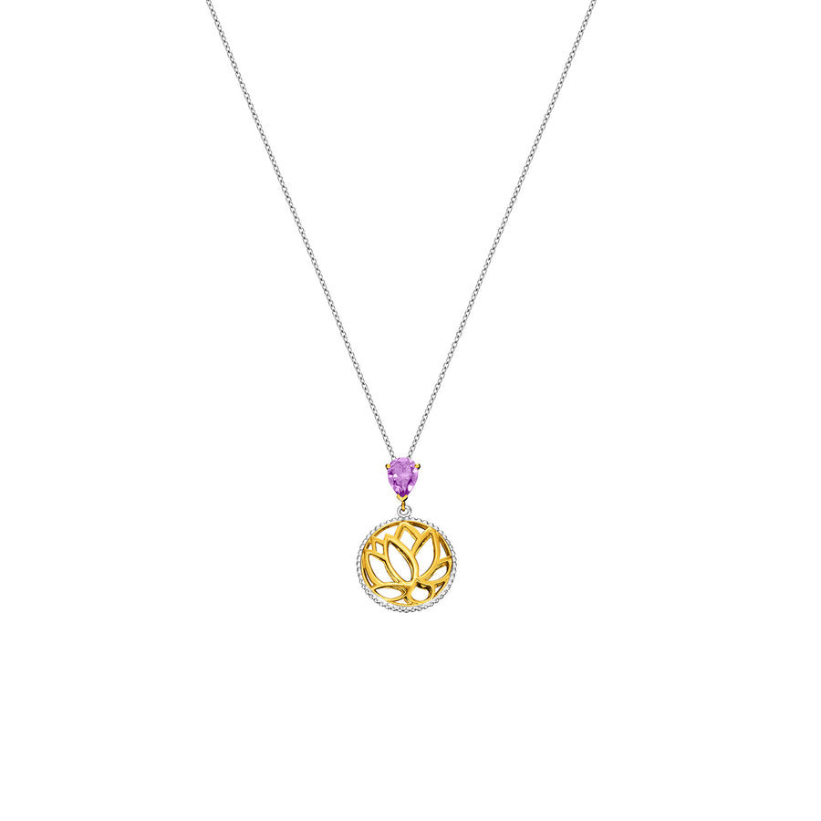 Lotus Satori Necklace with Amethyst