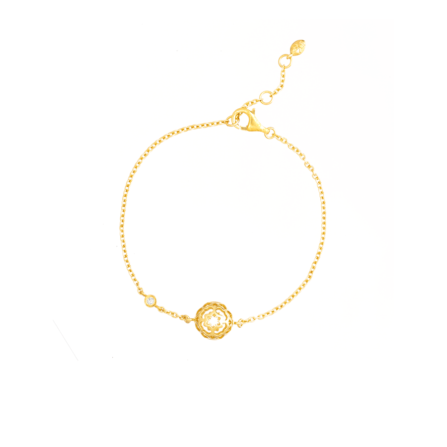 Peranakan Spheres Bracelet with White Topaz (G)