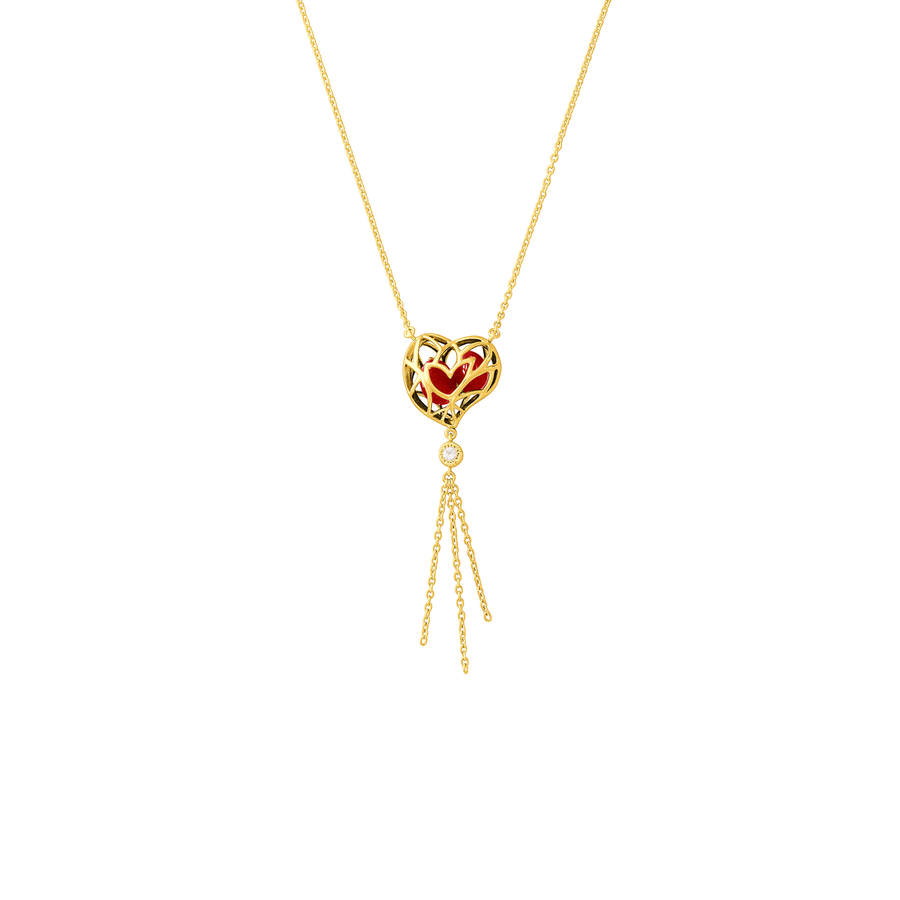 Lotus Heart Saga Seed Necklace