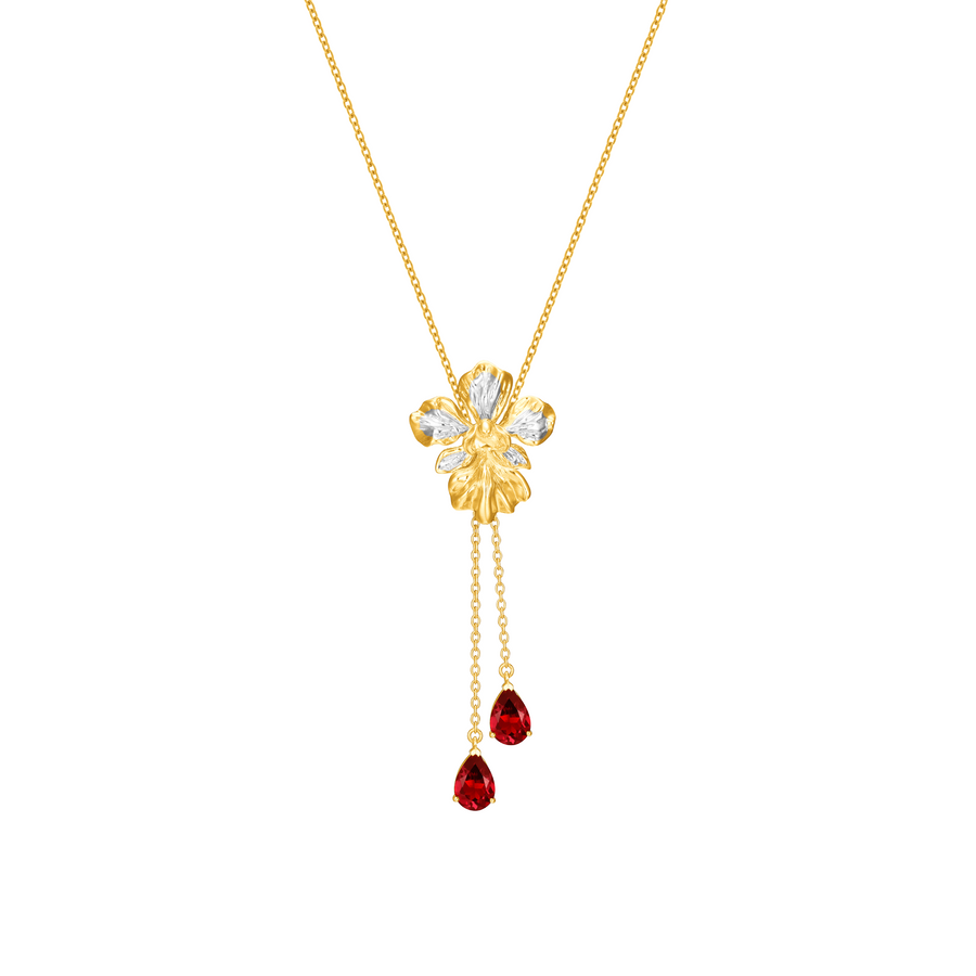 Vanda Miss Joaquim Heritage Long Necklace with Garnet