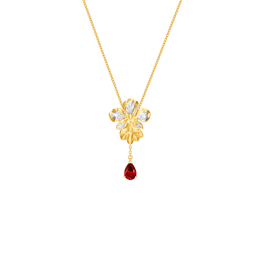 Vanda Miss Joaquim Heritage Necklace with Garnet