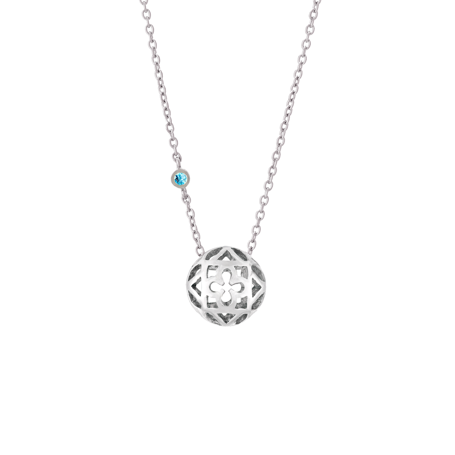 Peranakan Spheres Large Necklace with Blue Topaz (RH)