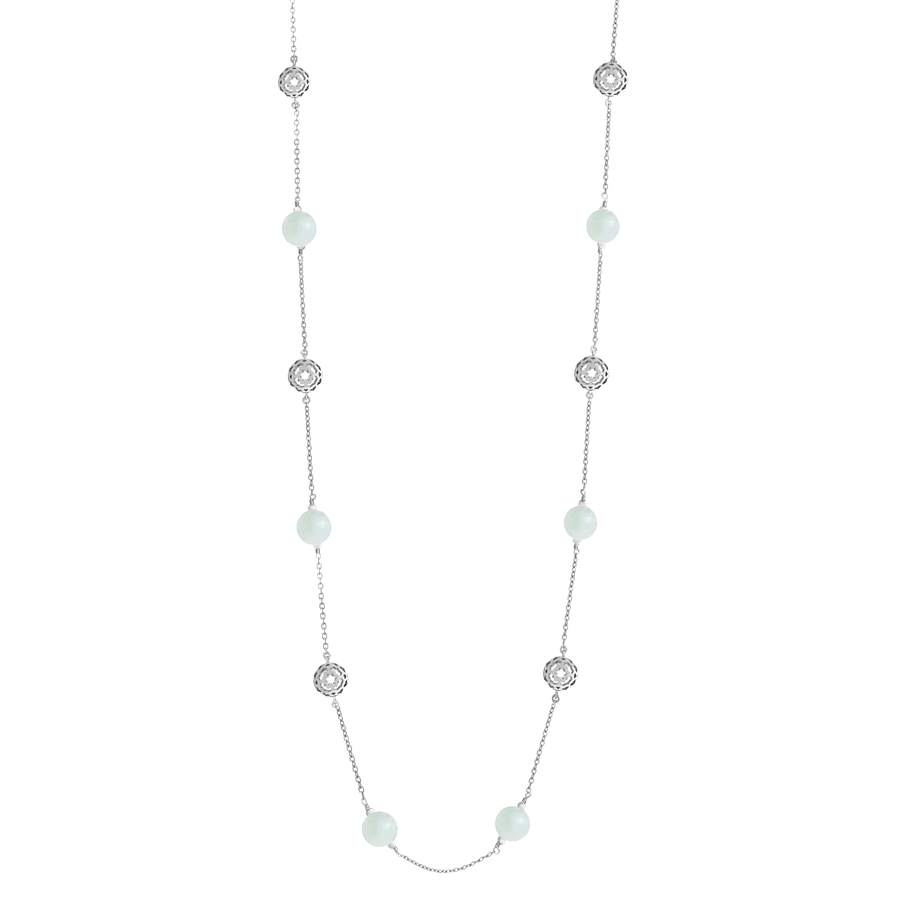 Peranakan Spheres Long Necklace with Jade (RH)