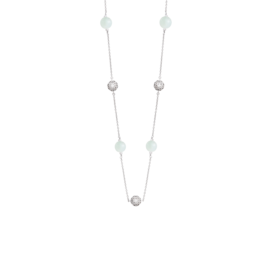 Peranakan Spheres Short Necklace with Jade (RH)