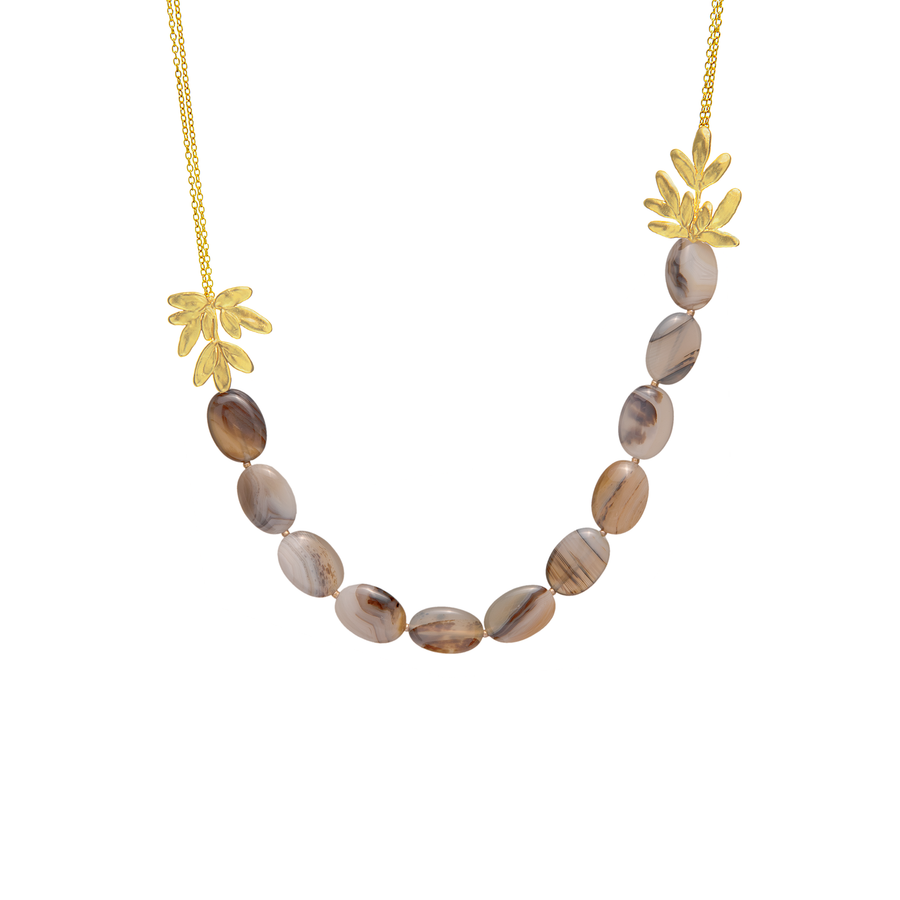 Rue of Grace Necklace with Montana Agate