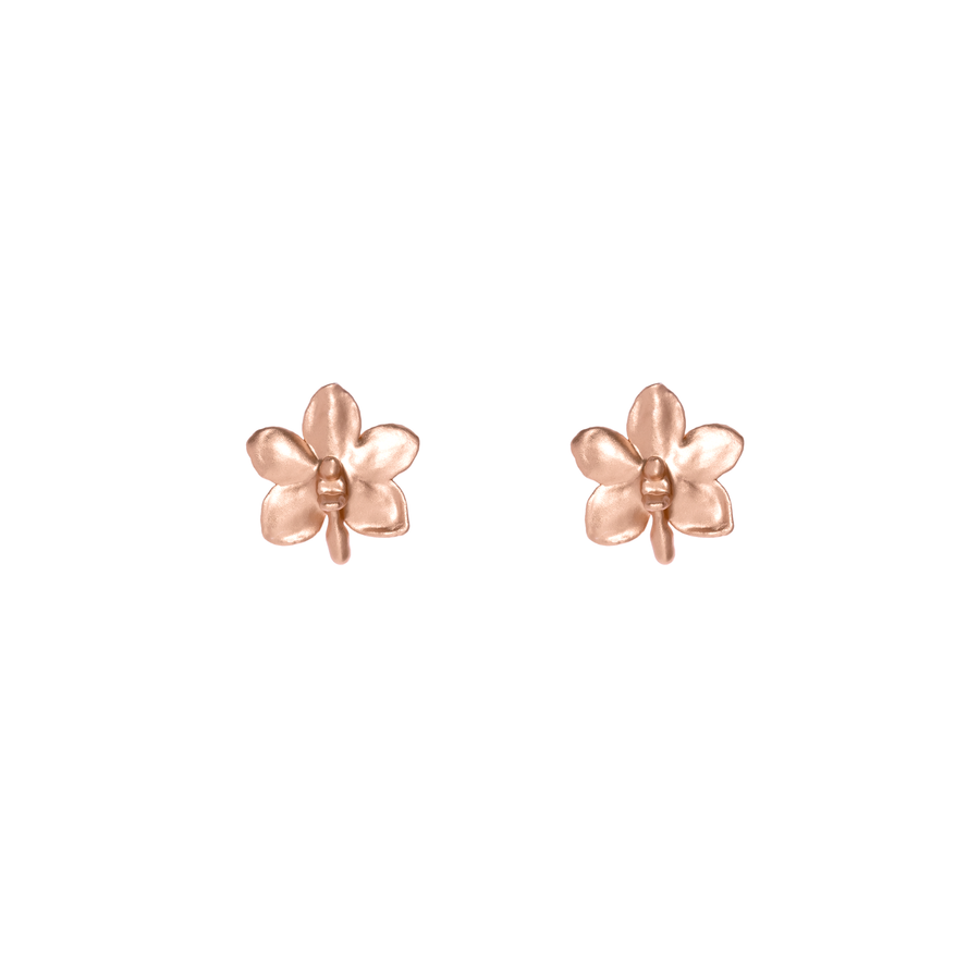 Ascocenda Sagarik Gold Orchid Earrings (RG)
