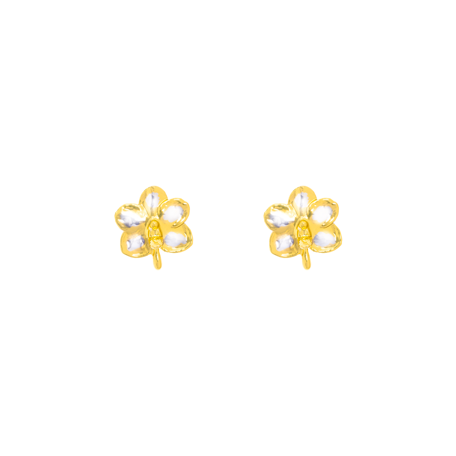 Ascocenda Sagarik Gold Orchid Earrings (P)