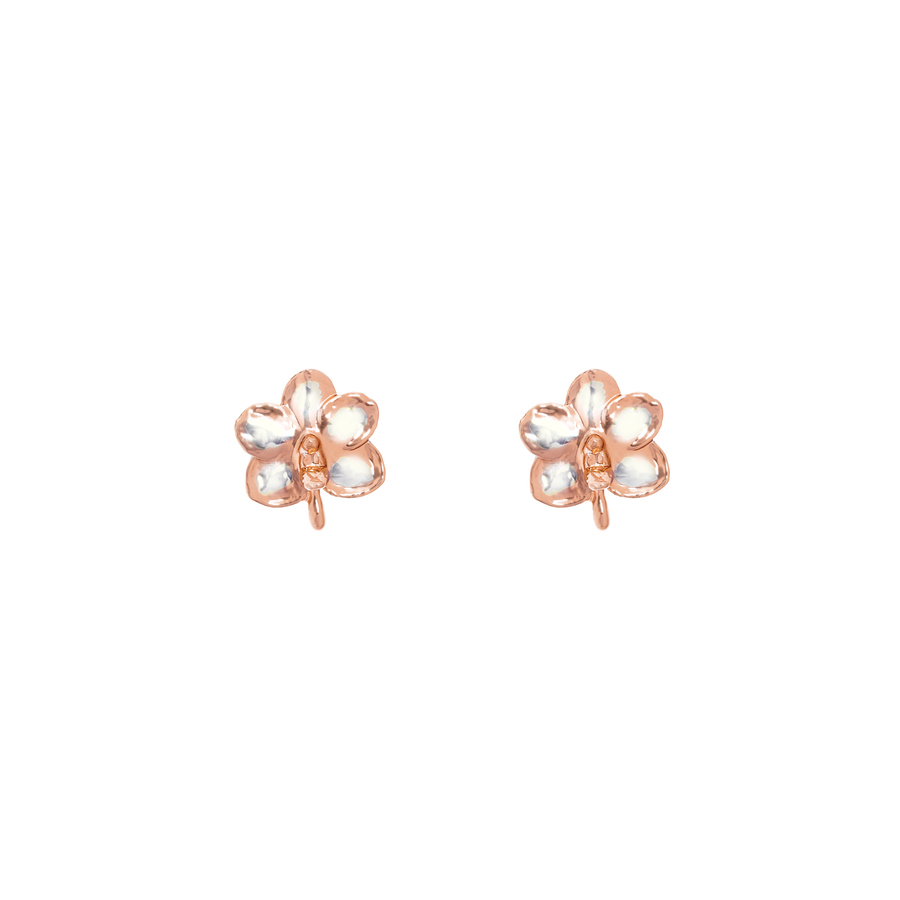 Ascocenda Sagarik Gold Orchid Earrings (RGP)