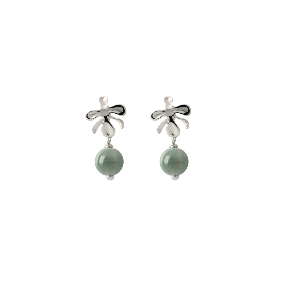 Vanda Breeze Earrings with Jade