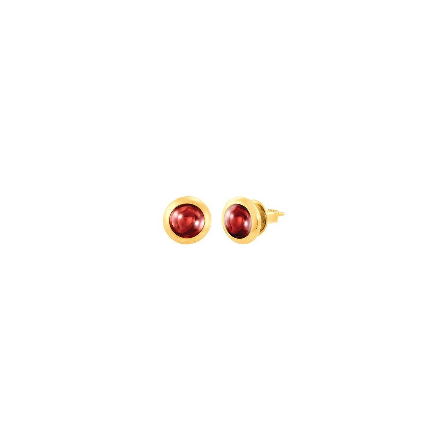 Peranakan Jewel Earrings with Red Garnet