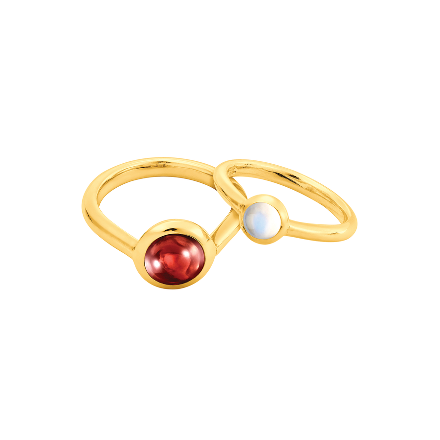 Peranakan Jewel Ring with Moonstone