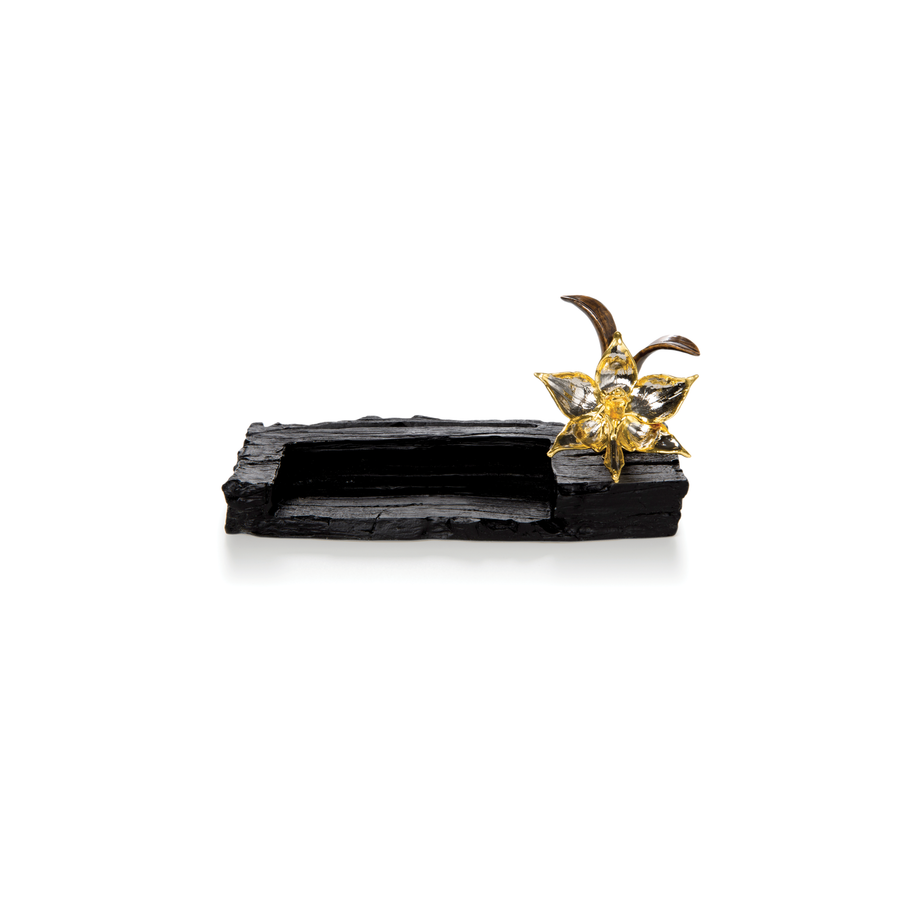 Diacrium Bicornutum Orchid Card and Pen Holder Charcoal (RHG)