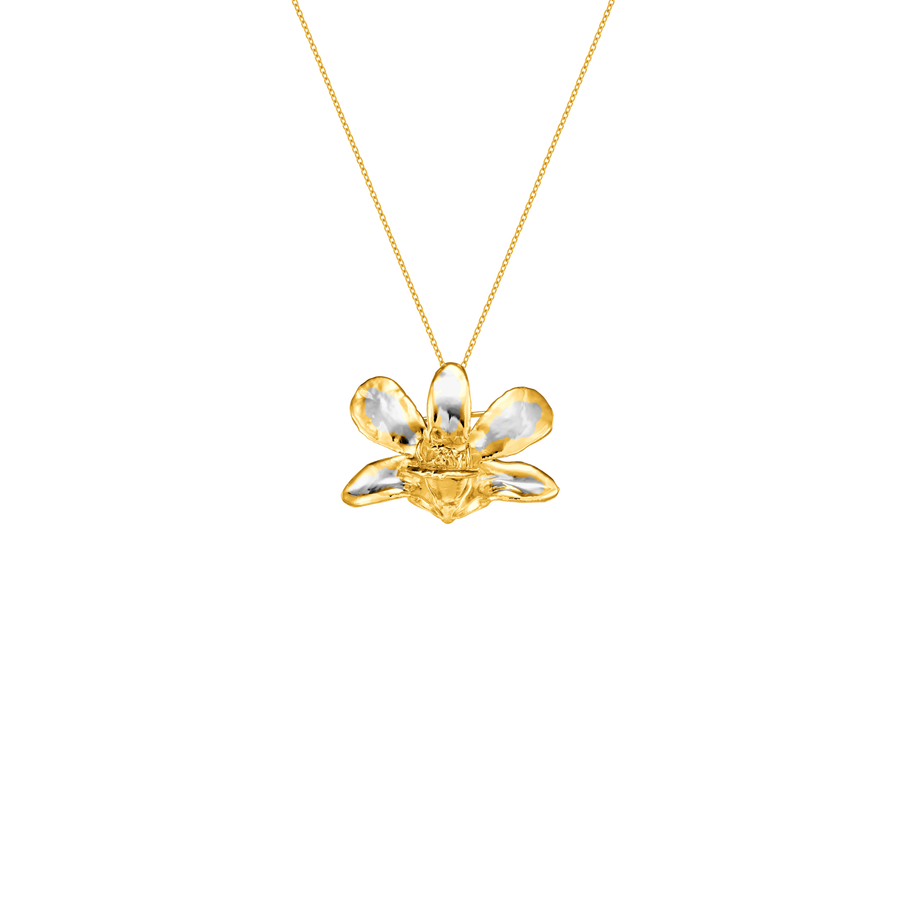 Dendrobium Thong Chai Orchid Necklace (RHG)