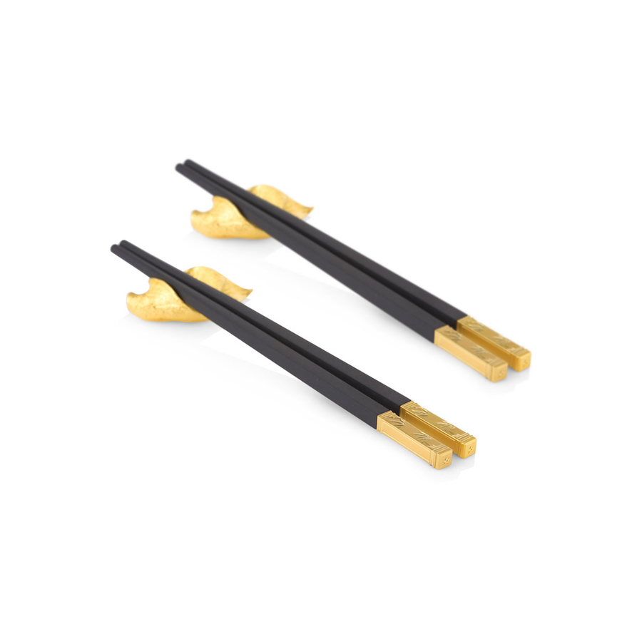 Bamboo Chopsticks with Leaf Rests (G)