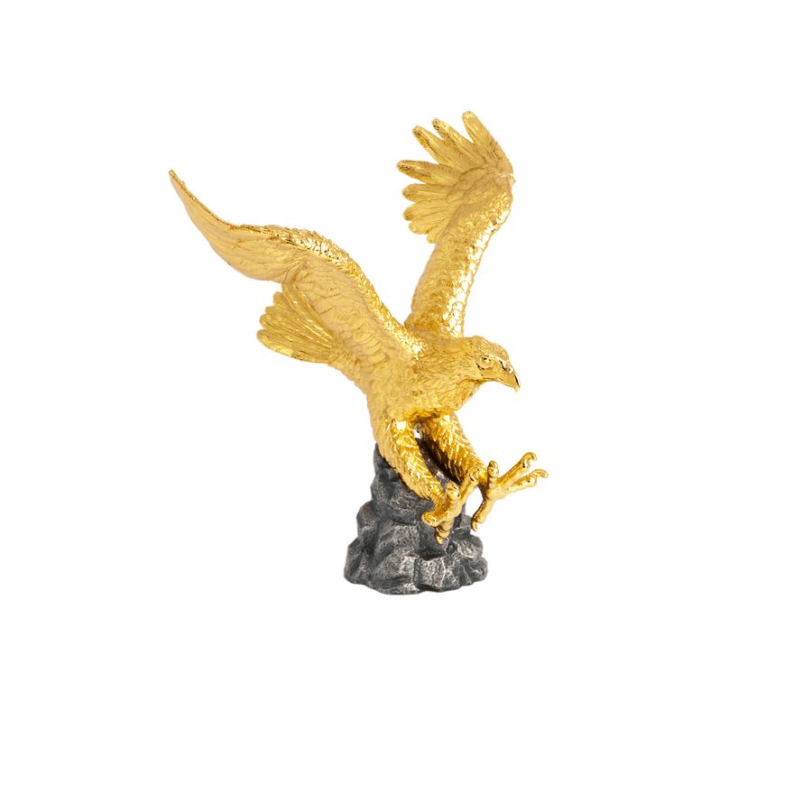 Soar Eagle on Black Pewter Base