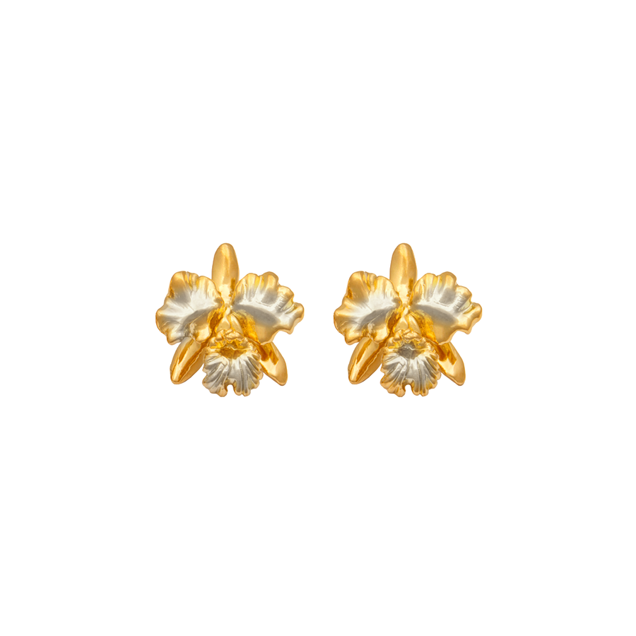 Cattleya Orchid Earrings (Oct) (RHG)