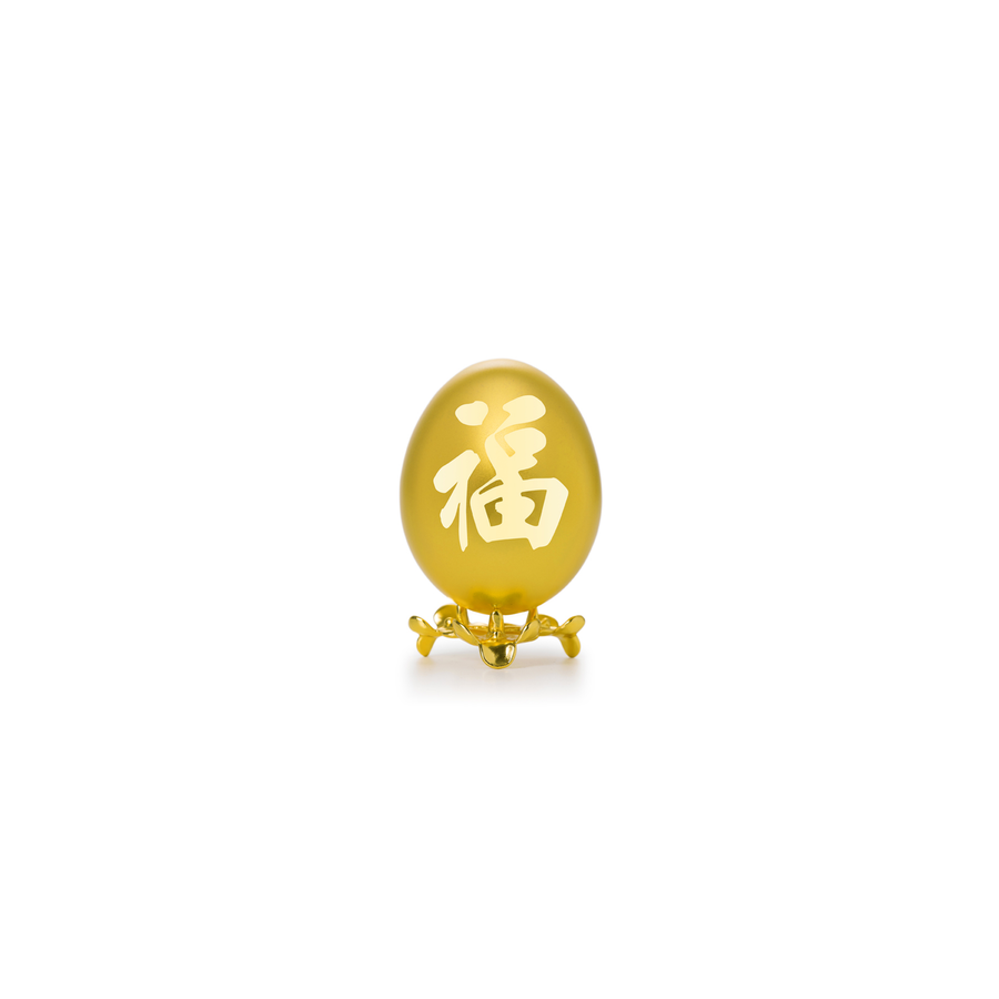 24K Gold-Plated Natural Chicken Egg - FU