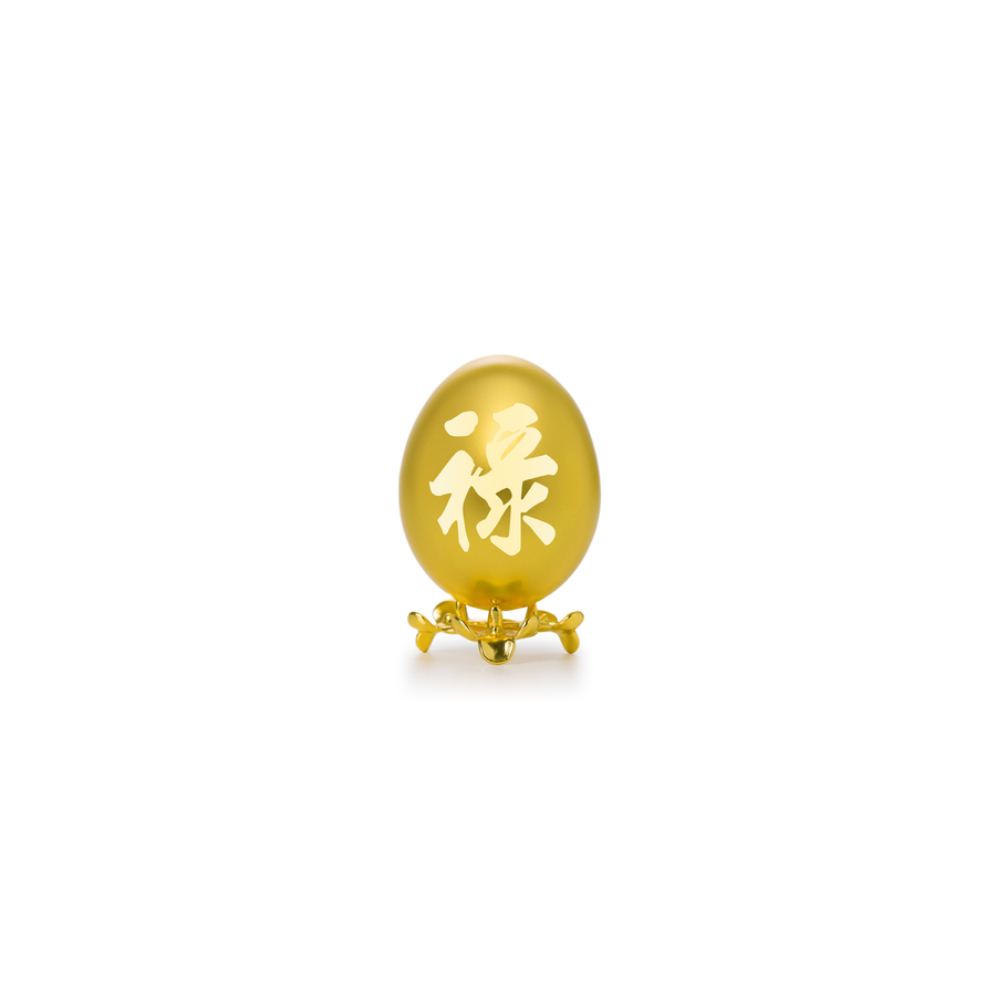 24K Gold-Plated Natural Chicken Egg - LU