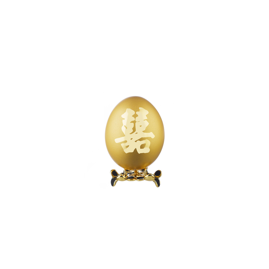 24K Gold-Plated Natural Chicken Egg - Xi