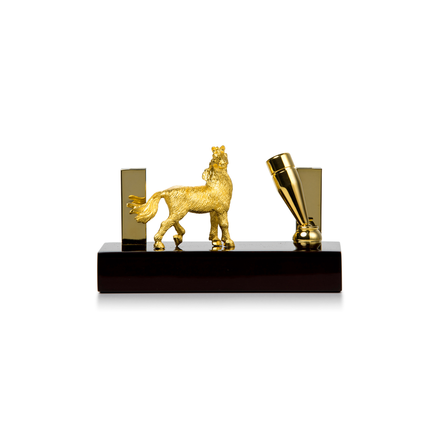 Noble Horse Namecard / Penholder With Base
